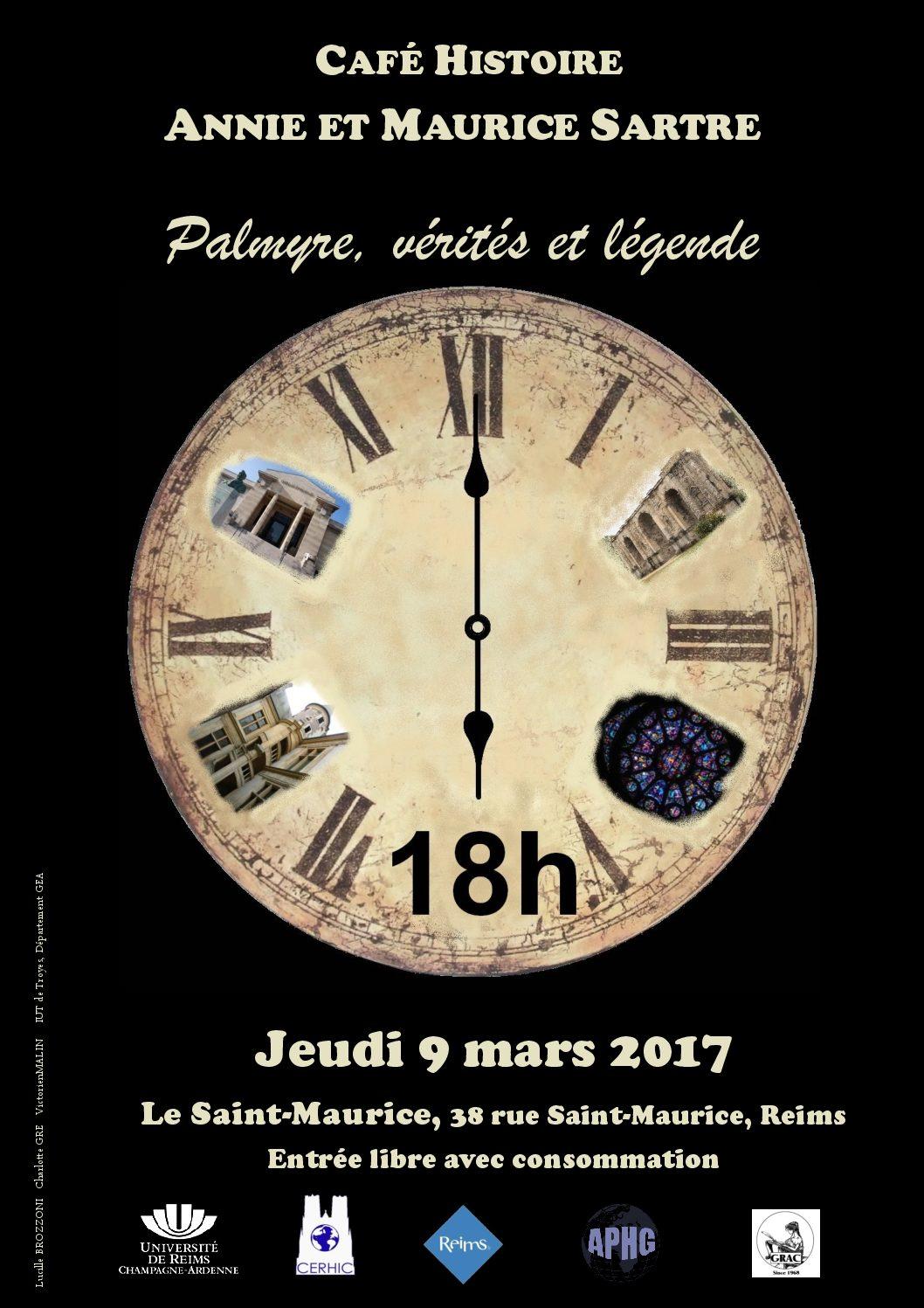 Prochain Café Histoire, 9 mars: Palmyre, vérités et légende