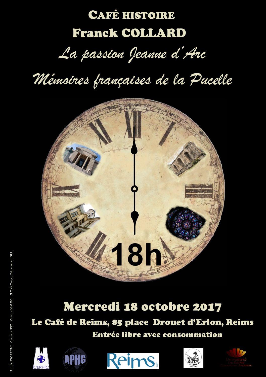 Prochain Café Histoire, mercredi 18 octobre 2017